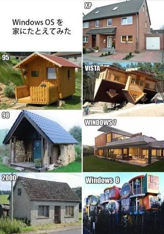 Windowsと言えば家で例えた画像が言い当ててる感じ好き https://t.co/BFnsJaAWm6