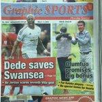 Also in Graphic Sports: @AyewAndre saves Swansea as Jordan scores seventh Villa goal #CitiCBS https://t.co/fn2n8tIjZd