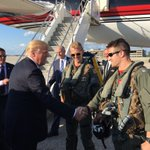 United States Air Force pilots greet @realDonaldTrump in Indianapolis, Indiana. #INPrimary #Trump2016 #BTS #MAGA https://t.co/V01l9hbFgx