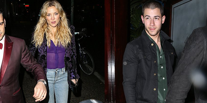 Kate Hudson and Nick Jonas spotted out on a dinner date after she said she's single