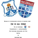 Kom naar het spelersafscheid van de @SC_PEC_ZWOLLE van @PECZwolle na de wedstrijd #zwopsv #gezellig https://t.co/zXKJlVIsxx