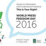#Finland hosts World #PressFreedom Day 2-4 May https://t.co/adiihWOnuN #WPFD2016 https://t.co/GwRCfmn7C6