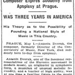 On the front page #OTD in 1904. Antonín Dvořák dies in Prague. #nytimes https://t.co/cHzoYxN2tR