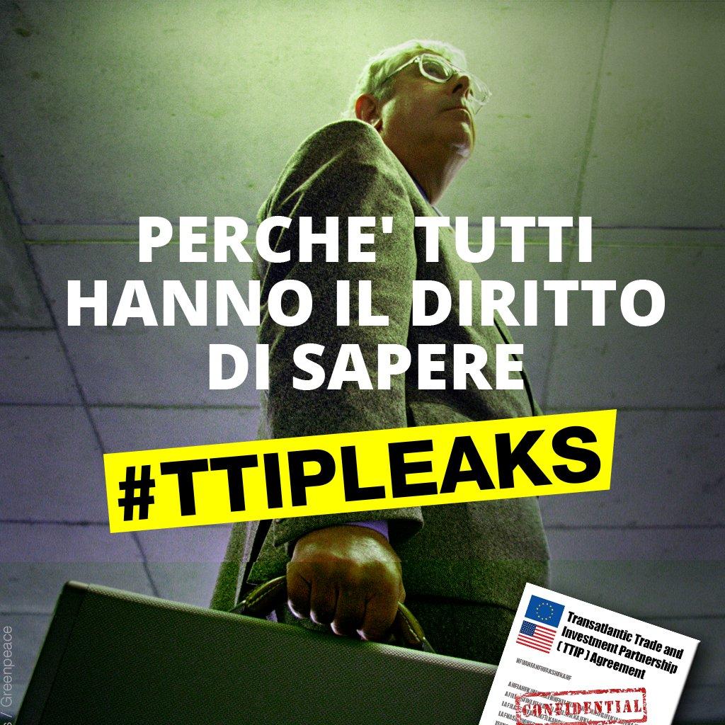 Esclusivo! @greenpeacenl rivela testi segreti del #TTIP. LEGGILI ORA su https://t.co/DdDa2o4MdT #TTIPleaks #stopTTIP https://t.co/iZ9IFVTsju