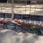 В память об Одессе. Возле Посольства Украины проходит памятная акция, связанная с днем 2 мая 2014 года. https://t.co/dNw22arqog