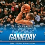 Game day! Number 2 vs Spurs at 8:30 CT on TNT and Thunder Radio Network. https://t.co/FeocdDYHfQ