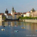 Pedalos on the Vltava River! Its another golden evening in #Prague. #VisitCZ https://t.co/UHn2uPxgZj