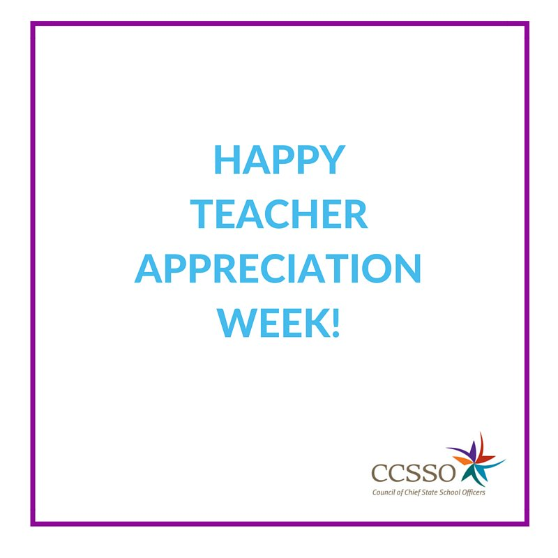 Happy #TeacherAppreciationWeek! Thank a teacher who has made a difference in your life! #ntoy16 #ThankATeacher https://t.co/TejcqPhAHC