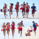 While filming in Savannah last week, Zac Efron took a spill while doing the classic Baywatch run. #WipeOut https://t.co/ZaIVbOGu9V