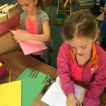 """Working on appreciation cards for the """"heros"""" in our school #thankyou #officestaff #mayday #learningatkelly https://t.co/VPgroyZQ2I"""