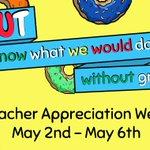 Happy Teacher Appreciation Week! #loe120 #rrisd #TeacherAppreciationWeek #pun #donut https://t.co/K3zVPrjnqR