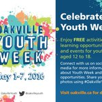 Celebrate Youth Week at our @OakvilleYouth centres! #OakvilleYouth https://t.co/fuYtokjfuP https://t.co/fawplKuKXc