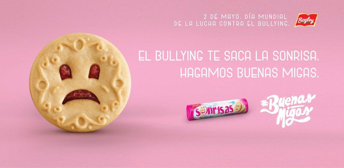 El bullying te saca la sonrisa. Nueva Campaña para Bagley. #NoalBullying https://t.co/r3eWR1oxXB