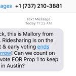 Uber now sliding into my texts re: Prop 1 https://t.co/AEftECoRoN