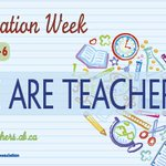 It's Education Week! Teachers change the world one child at a time. Hug a teacher today! #abed https://t.co/345qD5noTY