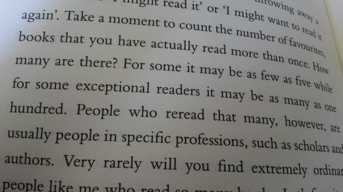 Surely, it is not abnormal to reread more than a hundred books? https://t.co/fzW90tqwW8