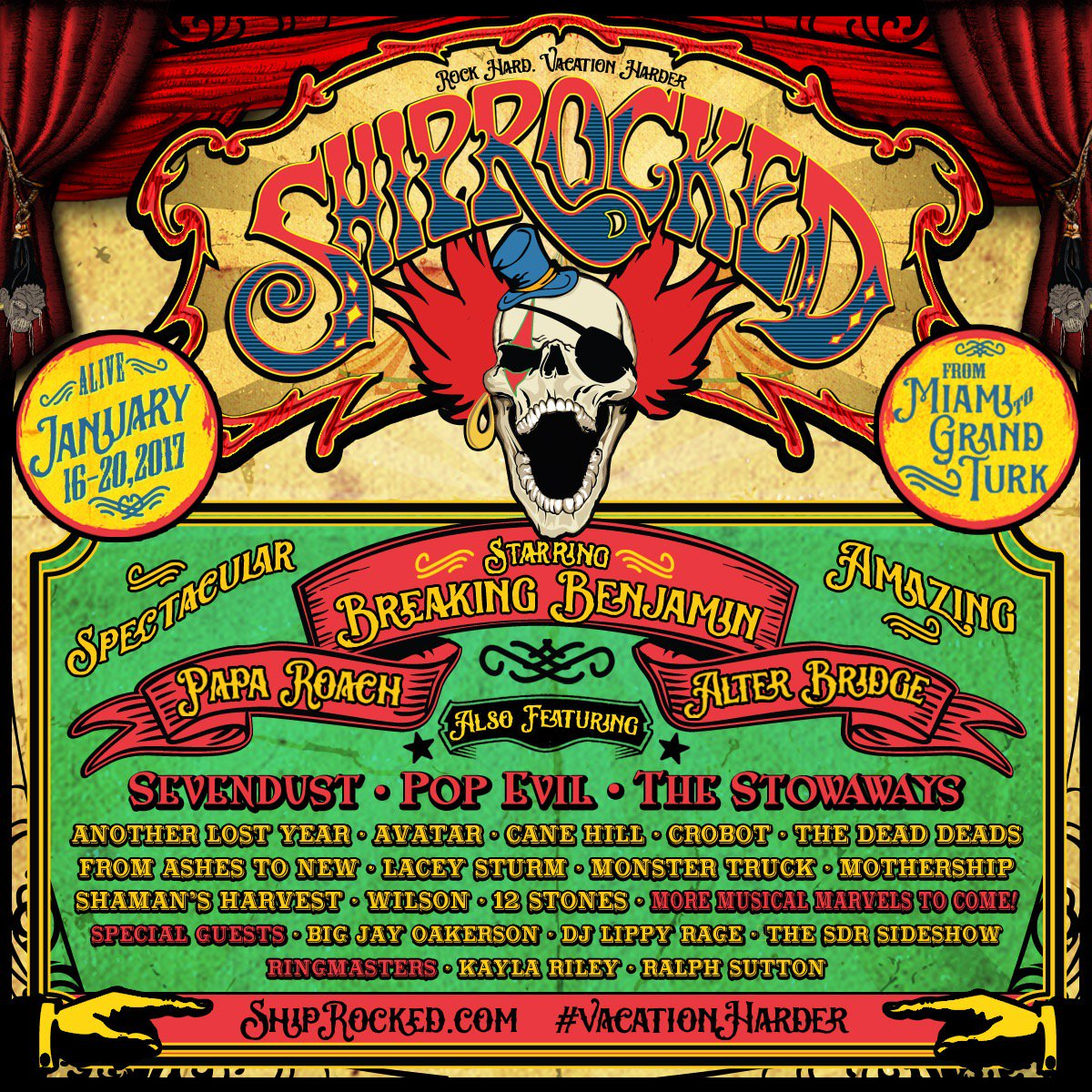 Ladies & Gentlemen! Boys & Girls! Behold the amazing lineup of Musical Marvels performing onboard ShipRocked 2017! https://t.co/x8PKuyVWnn