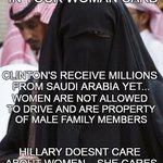 Hillary doesnt care about women #YesAllWomen #ShariaLaw #RedNationRising #Islam #tcot #Hillary2016 #UniteBlue https://t.co/boqBDLhfVA