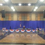 Crews making final preparations for @realDonaldTrump rally at South Bends Century Center. Starts at 7. https://t.co/Mjm9f5p2Z6