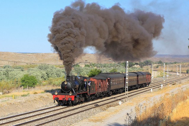 All aboard Madrid's Strawberry Train! What is it, you wonder?