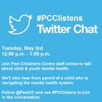 Tomorrow at 12pm EST meet us online for #PCClistens, a chat about child & #youth #mentalhealth. #CMHW #MHW2016 https://t.co/rWYtrouBJ9