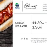 Join us for lunch 11:30am - 1:30pm tomorrow! $5 gets you a hot dog, soft drink, & donation to @Habitatedm #yegfood https://t.co/RkIiTaPyDn