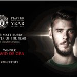 Ladies and gentlemen, your #mufc Player of the Year is... @D_DeGea! Congratulations, David! #MUFCPOTY https://t.co/937FDCYfIs