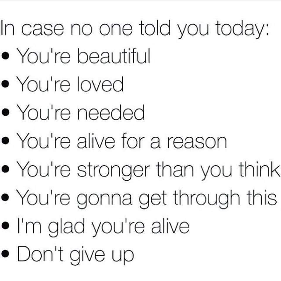 In case no one told you today...#MondayMotivation #DontGiveUp https://t.co/u7waWpp2JG
