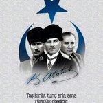 Taş kırılır, tunç erir ama Türklük ebedidir. #BaşbuğAtatürk #TürkçülerinGünü3Mayıs https://t.co/QCmEI8VibY