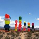 "Ugo Rondinones ""Seven Magic Mountains"" is up. Stay tuned to https://t.co/okk3pAYuu0. #Vegas @lasvegasweekly https://t.co/qpKqKGgdr7"