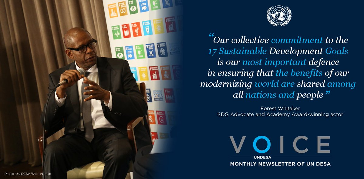 RT @UNDESA: .@ForestWhitaker spells out importance on achieving SDGs. C/out latest  UNDESAVoice: