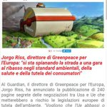 #TTIPLeaks #Greenpeace pubblica documenti segreti #Roma #7maggio #StopTTIP #StopGlifosato https://t.co/6rAkqF4W6O https://t.co/dbyqyLBGgD