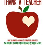 Help RUSD celebrate #NationalTeacherAppreciationWeek by taking the time to #ThankATeacher! https://t.co/xWJaWNHYOc
