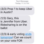 Havent received and mailers or calls about #Prop1 ... but I did get a text today. Such an interesting election ... https://t.co/POiEwUO9OJ