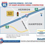 #heybangor I-395 will be closed between exits 1 & 2 starting Fri 5/6 @ 8 PM to 7 AM Tues, 5/10 #bgrtraffic @HussonU https://t.co/tVCLFD4q4N