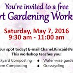 Sat, 5/7 9:30am at #SantaMonica Virginia Avenue #Park, learn smart gardening tricks to improve your #greenthumb https://t.co/iUy00lSoIJ