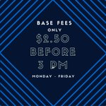 Starting tomorrow, well be offering half-price base fees for customers in before 3 PM, Monday - Friday! #yeg https://t.co/6zSnWUZPKI