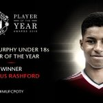 Marcus Rashford is our Under 18s Player of the Year - congratulations, Marcus! #MUFCPOTY https://t.co/E7MhrRb7Y2