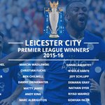 Congratulations to Leicester on winning their first ever English top-flight title. You heard us: Leicester City! https://t.co/eJrT3rgMsD