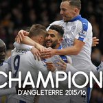 OFFICIEL ! LEICESTER EST SACRÉ CHAMPION DANGLETERRE 2015/16 ! 🇬🇧 https://t.co/Rl0T3pKNp3