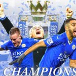 HISTORY! With Tottenhams draw to Chelsea, Leicester City wins the Premier League title for the 1st time ever. https://t.co/7lgHHOm7pQ