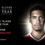 The lads have voted @ChrisSmalling the Players Player of the Year - well deserved! #MUFCPOTY https://t.co/TcakLmNk9K