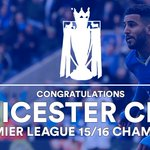 Congratulations to Leicester City, Premier League winners 2015/16. What a story. What a season. #AllTheFootball https://t.co/AnVv1HiolH