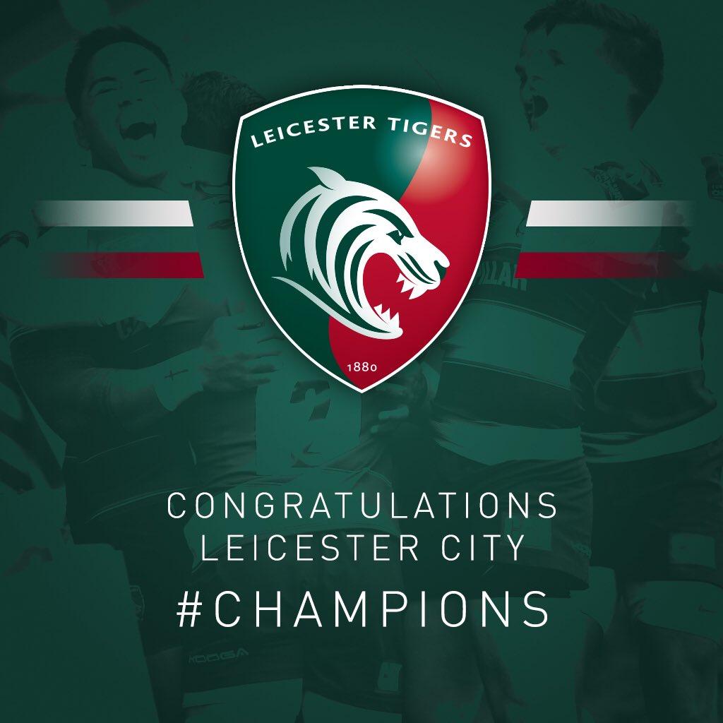 Congratulations on an amazing season @LCFC https://t.co/R5pNuKPIq4