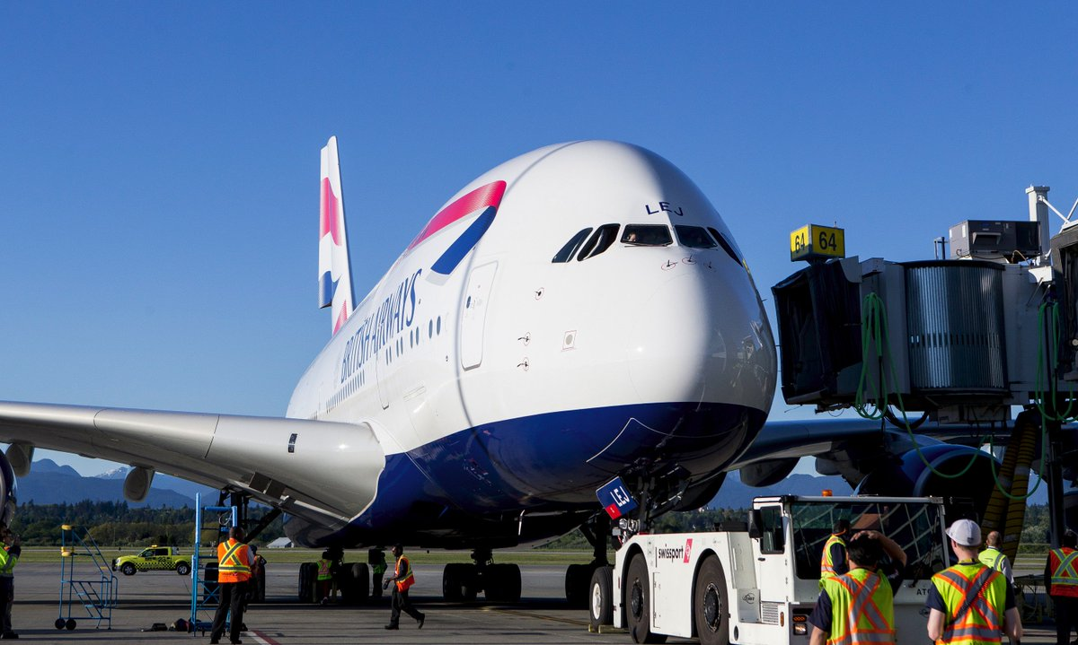 World's Largest Passenger Aircraft Lands at YVR YVRA380: