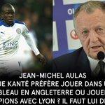 """Aulas en juillet 2015 : """"Est-ce que Kanté préfère jouer dans un club de bas de tableau ou jouer la LDC avec Lyon ?"""" https://t.co/leN1atZAE2"""