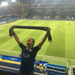 Leicester fan at Stamford Bridge right now. He has witness it. #lcfc https://t.co/wSWlf4jnTu