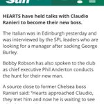 I see Leicester have won the EPL. Mr Romanov was close to appointing Claudio Ranieri as Hearts boss back in 2005. https://t.co/ci9CHtK2uS