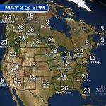 At 3pm - Hotter in Edmonton & N Alberta than Vegas. ALMOST as hot at Phoenix & Miami.  #yegwx #yeg https://t.co/HlqBRERLWi