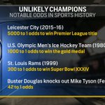 The 1980 Miracle was 5x more likely to happen than @LCFCs championship. Insane. #BPLonNBC https://t.co/0dnbLt5ghX